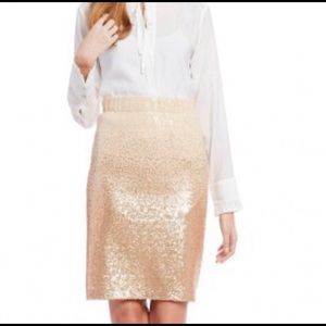 Cream ombré sequin skirt with elastic band